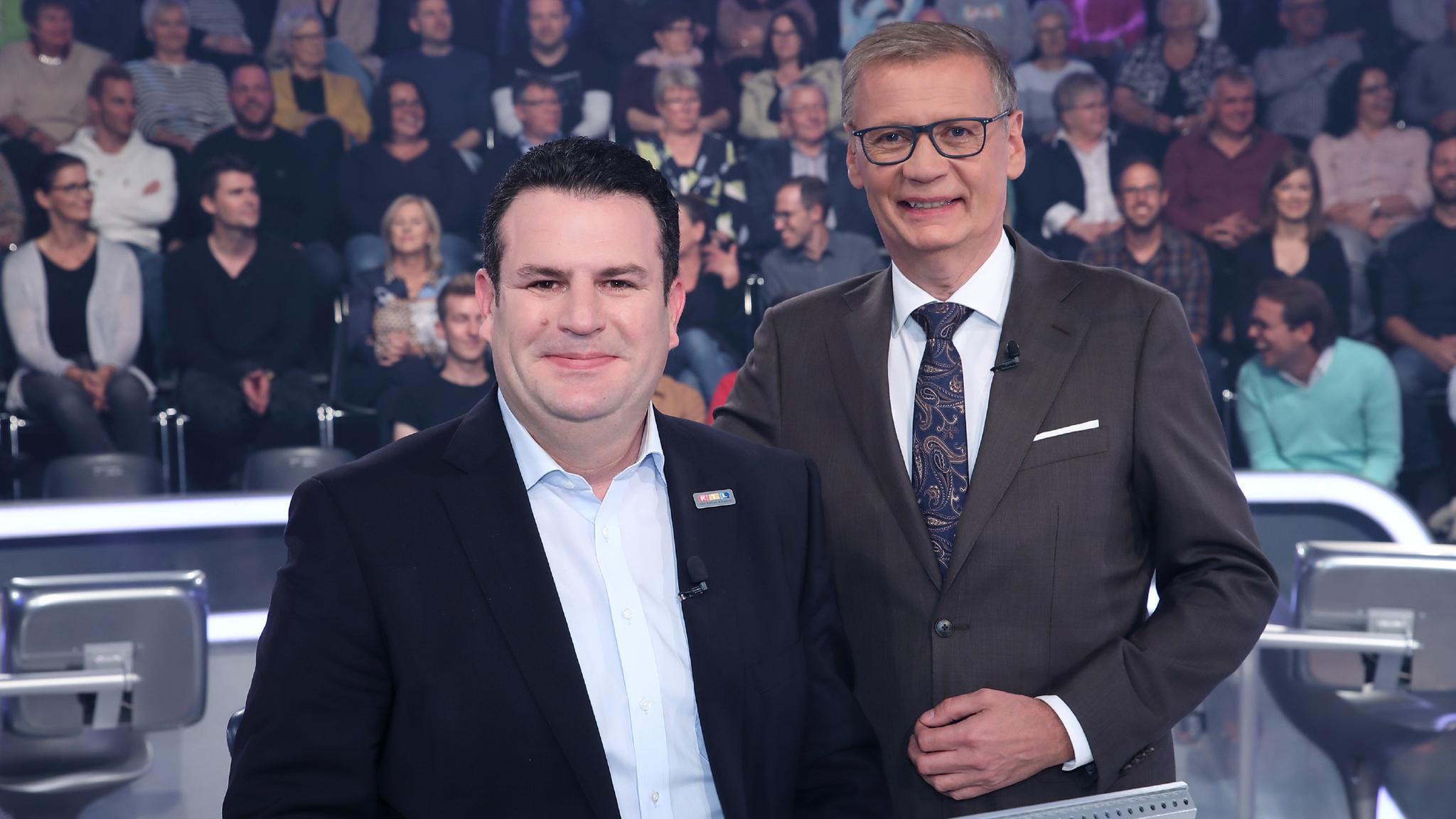 Hubertus Heil + Günther Jauch