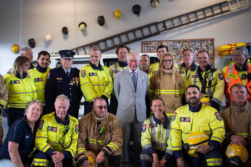 Im Rahmen des offiziellen Besuchs von Charles und Camilla steht auch ein Rundgang in derKerikeri Fire Station an.
