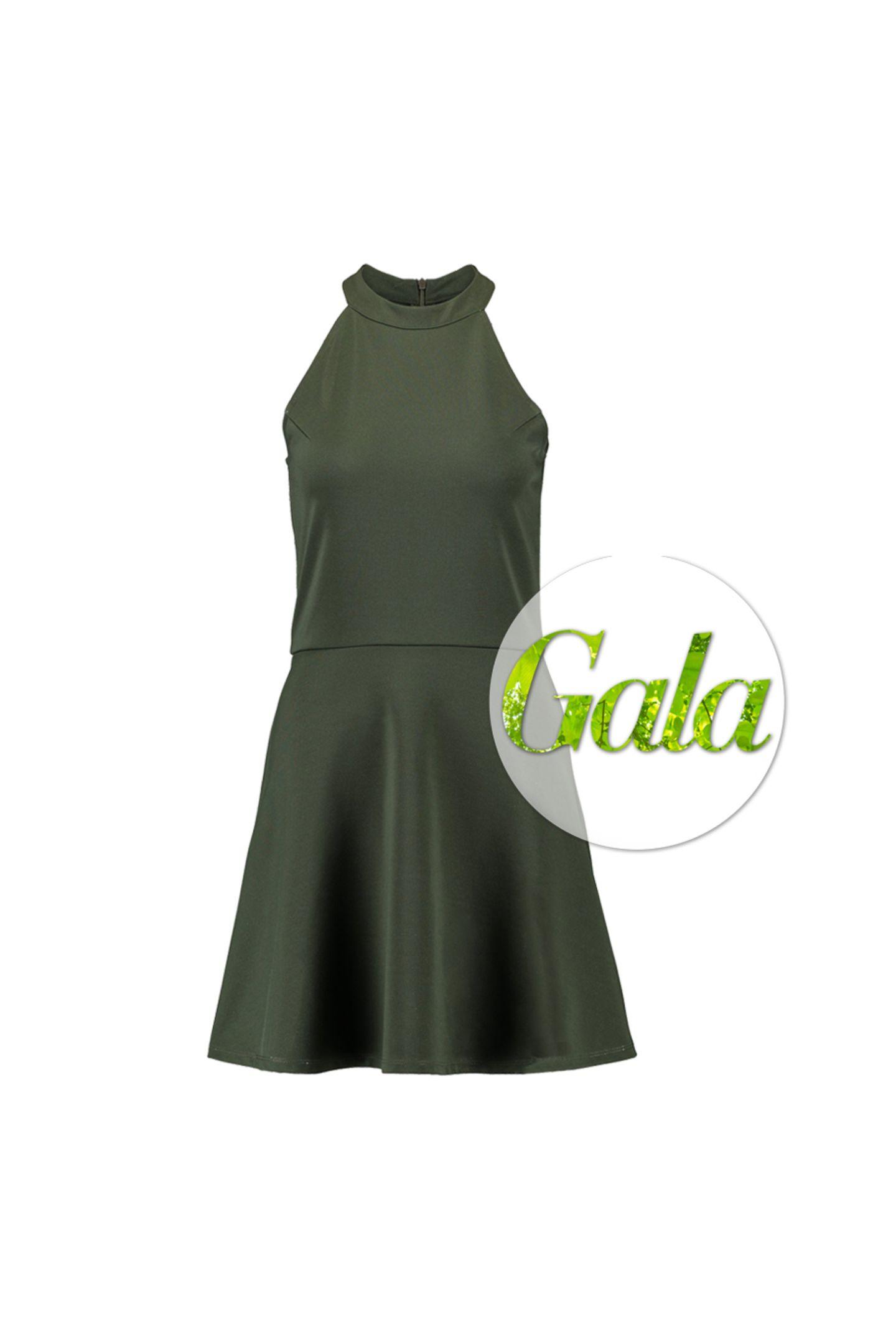 """Fitness-Influencerin Pamela Reif setzt sich bereits seit einigen Jahren für das Thema Nachhaltigkeit ein. Zusammen mit NA-KD hat sie jetzteine Kollektion ausbiologischen und recycelten Materialien kreiert: Aus der""""NA-KD Reborn x Pamela Reif""""-Kollektion stammt auch dieses hübsche Kleid mit Neckholder-Ausschnitt und leicht ausgestellten Rock, kostet ca. 56 Euro."""