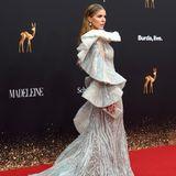 Ein Kleid wie aus einem Märchen: Victoria Swarovski bringt Glamour auf den roten Teppich.