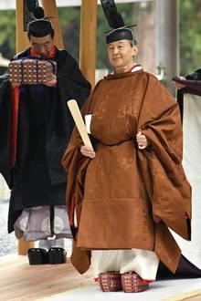 """Von dort aus geht es zur traditionellen """"Shinetsu-no-Gi""""-Zeremonie, ein Teil derInthronisierung von Kaiser Naruhito."""