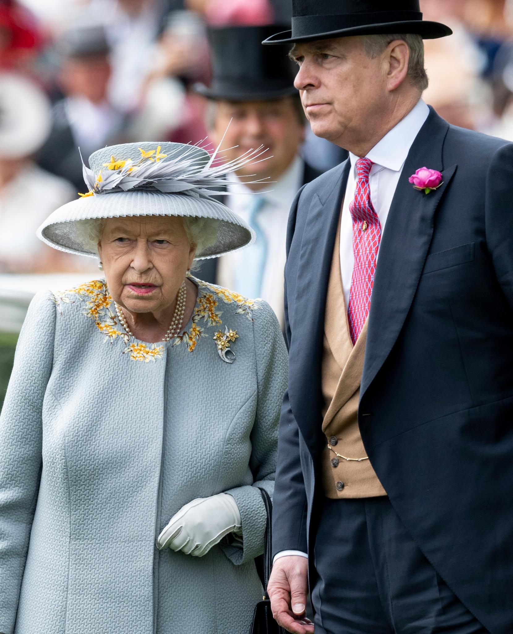 Queen Elizabeth und Prinz Andrew