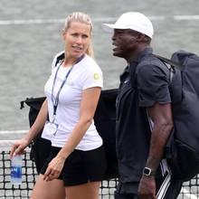 Seal mit der slowenischen TennisspielerinTina Hojnik