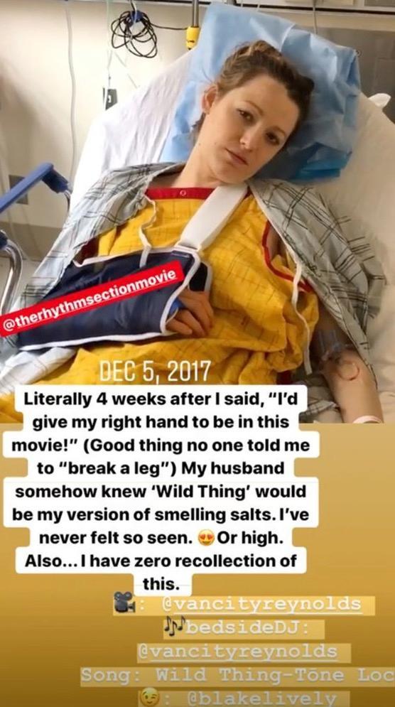 Blake Lively im Krankenhaus. Dieses Foto aus 2017 teilte die Schauspielerin aktuell auf Instagram.