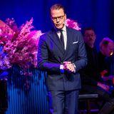 """25. November 2019  Prinz Daniel beehrtbei der Gala zur Verleihung des """"Visa vägen-priset""""in Stockholm die Preisträger und Gäste mit seiner Rede und Anwesenheit.DerPreis wird anArbeitgeber verliehen, die sichfür Inklusion einsetzen."""