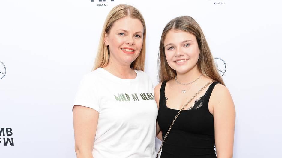 Anne-Sophie Briest und Tochter Faye Montana