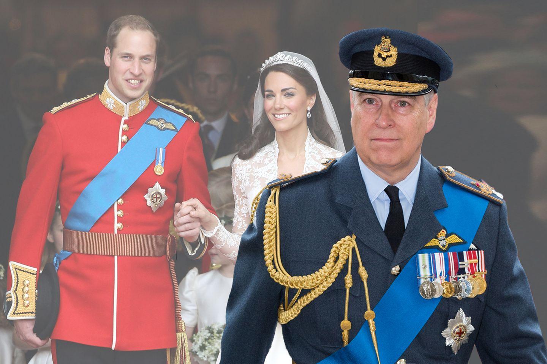 Prinz William, Herzogin Catherine, Prinz Andrew