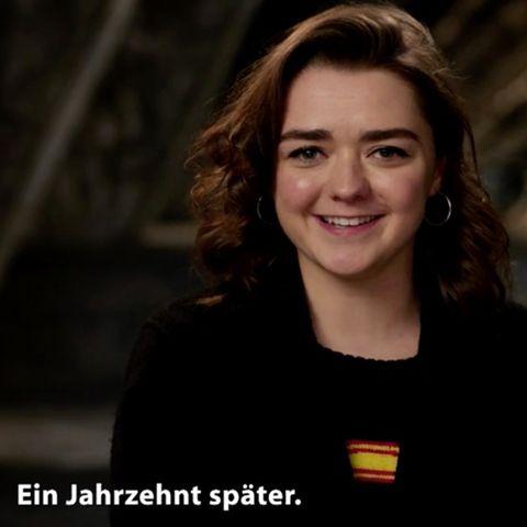 """Maisie Williams blickt zurück auf ihre Rolle als """"Arya Stark"""""""