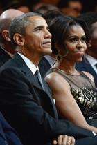 Von links: Michelle, Sasha, Barack und Malia Obama