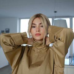 """Plötzlich blond: Stefanie Giesinger zeigt sich mit deutlich helleren Haaren bei Instagram und schreibt dazu: """"Mal sehen, ob Blondinen wirklich mehr Spaß haben""""."""