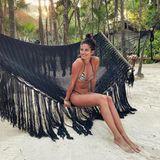 Model Sara Sampaio lässt im mexikanischen Tulum die Seele baumeln.