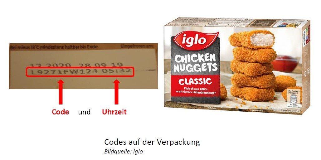 """Iglo ruft deutschlandweit """"Chicken Nuggets Classic"""" zurück."""
