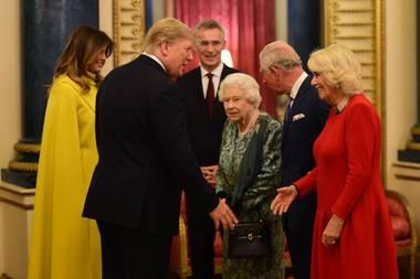 Melania Trump, Donald Trump, Königin Elizabeth, Prinz Charles und Herzogin Camilla