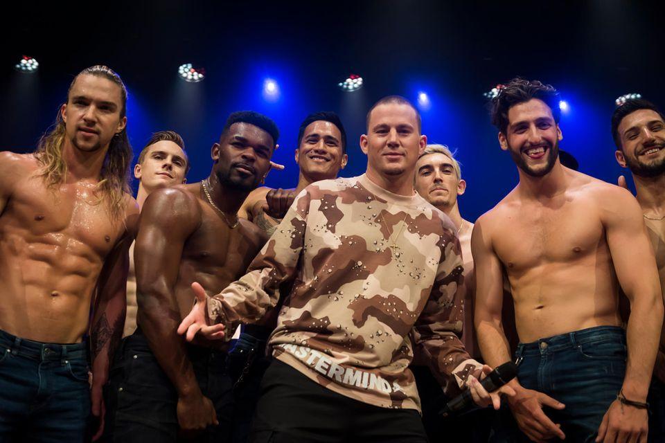 """3. Dezember 2019  Channing Tatum rührt in Melbourne kräftig die Werbetrommel für die im Mai 2020 startende """"Magic Mike Live Show""""."""