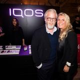 Jobst Schumacher (Philip Morris) und Astrid Bleeker (G+J) in der IQOS Lounge.