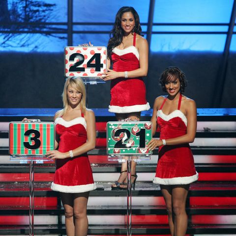 """Damals noch Meghan Markle als Nummerngirl in der US-Spielshow """"Deal or No Deal"""" im Jahr 2006"""