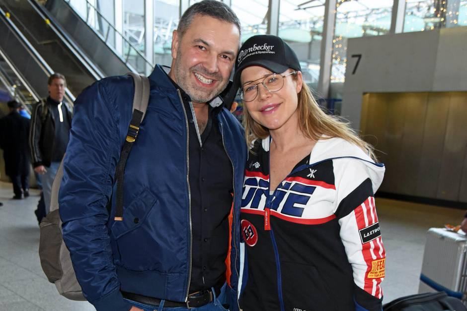 """Pedro da Silva und Doreen Dietel vor dem Start des """"Dschungelcamp"""""""