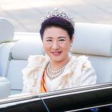 9. Dezember 2019  Ein wahrlich kaiserlicher Geburtstag: Masako von Japan, hier während der königlichen Parade zur Inthronisierung von Kaiser Naruhito imNovember, wird heute 56 Jahre alt. Wir gratulieren herzlichst.
