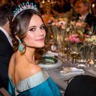 Prinzessin Sofia genießt das Menü beim Nobelpreis