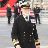 Auch Prinz Michael von Kent, der Vater von Lady Gabriella Windsor, ist gekommen, um Sir Donald Gosling die letzte Ehre zu erweisen.