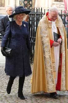 Auch Prinz Charles' Ehefrau Herzogin Camilla nimmt an der Trauerfeier teil.