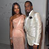 Naomi Campbell und P. Diddy auf dessen 50. Geburtstag