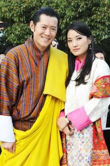 König Jigme und Königin Jetsun