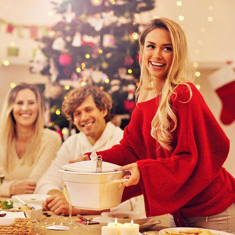 Festliche Tafel zu Weihnachten