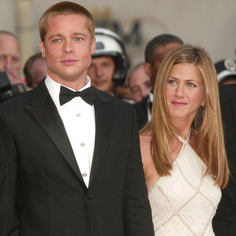 Brad Pitt undJennifer Aniston 2004 gemeinsam in Cannes, Frankreich.