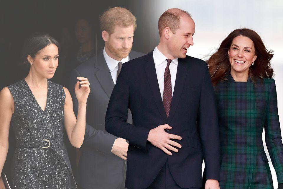 Herzogin Meghan und Prinz Harry, Prinz William und Herzogin Catherine