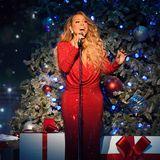 2019  Stilecht im roten Paillettenkleid gibt Mariah Carey auf der Bühne des New Yorker Madison Square Garden alles.