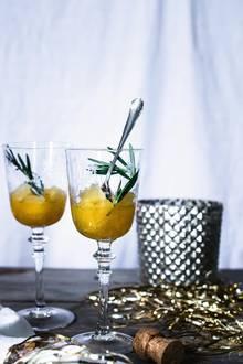 Gourmet: Orangen-Rosmarin-Granita