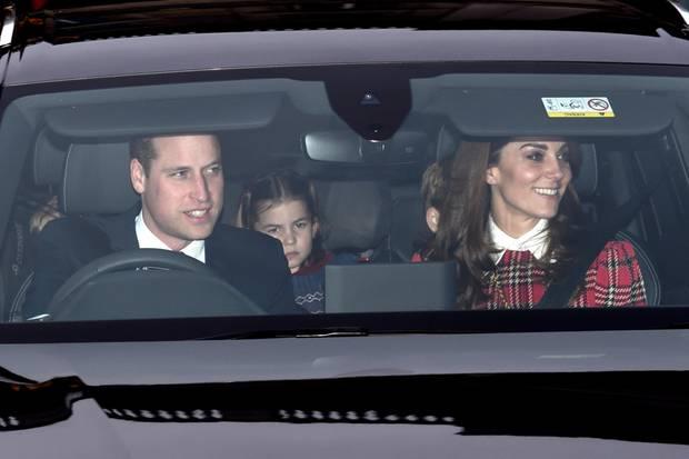 Die Familie Cambridge auf dem Rückweg vom Buckingham Palast.