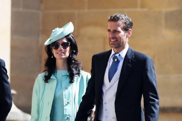 Alexi Lubomirski (r.) mit seiner EhefrauGiada Lubomirski bei der Hochzeit von Prinz Harry und Herzogin Meghan am 19. Mai 2019 auf Schloss Windsor.