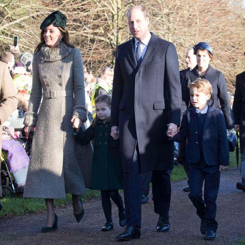 Familie Cambridge mit ihren Kindern Prinzessin Charlotte und Prinz George