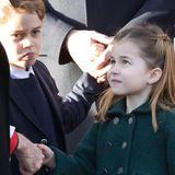 Ganz höflich bedankt sich Prinzessin Charlotte beim Pastor für den Gottesdienst.
