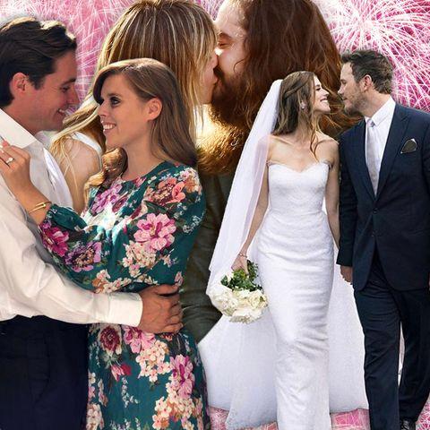 Jahresrückblick 2019:Die schönsten Verlobungen und Hochzeiten der Stars