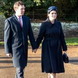 Jack Brooksbank und Prinzessin Eugenie in Sandringham