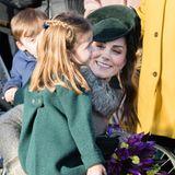 Prinzessin Charlotte und Herzogin Kate in Sandringham