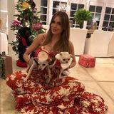 Auch Sofia Vergara und ihre Mädels haben sich zu Weihnachten festlich in Schale geworfen.