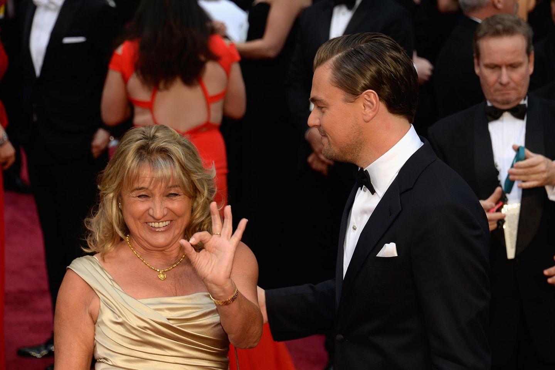 Irmelin Indenbirken mit ihrem berühmten Sohn Leonardo DiCaprio