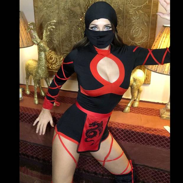 Elizabeth Hurley als sexy Ninja