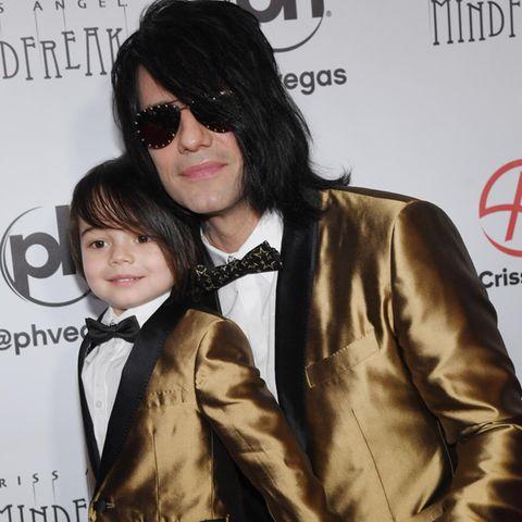 Criss Angel mit seinem Sohn Johnny Crisstopher