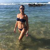 """Brooke Shields zeigt ihren Wahnsinns-Body in knappem Bikini – sie ist 54 Jahre alt. Unter das Bild schreibt sie: """"Eine weitere blaue Lagune"""" in Anspielung auf ihren filmischen Durchbruch 1980."""