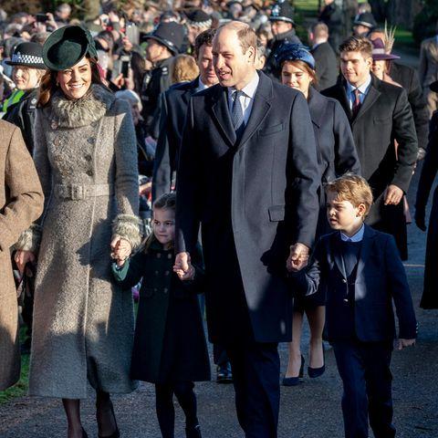 Herzogin Catherine, Prinzessin Charlotte, Prinz William, Prinz George