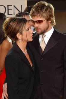 Jennifer Aniston und Brad Pitt besuchten die Golden Globes 2002 als Ehepaar.