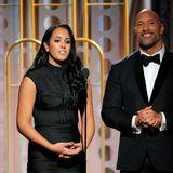 """2018 -Simone Garcia Johnson  Dwayne """"The Rock"""" Johnson steht es ins Gesicht geschrieben, wie stolz er auf seine Tochter Simone ist, die Miss Golden Globe des Jahres 2018."""