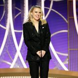 Comedian Kate McKinnon hat im Pailletten-Anzug einen glänzenden Auftritt bei den Golden Globe Awards.