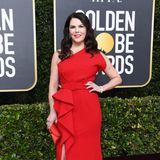 Lauren Graham zeigt sich als klassische Hollywood-Schönheit in Rot.