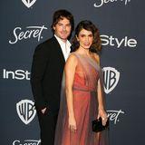 Feuriges Style-Paar des Abends: Ian Somerhalder und Nikki Reed besuchen die Party von InStyle und Warner Bros.
